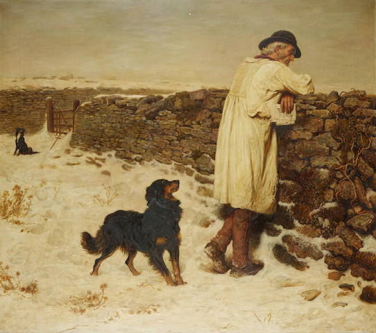 Briton Riviere, RA (British 1840-1920)  War Time 110.5 x 126 cm. (43 1/2 x 49 1/2 in.)