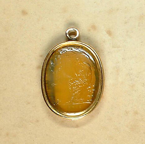 An 18th century hardstone intaglio,, by Edward Burch,