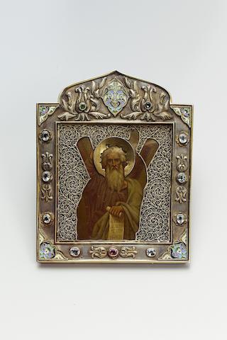 Sergei Ivanovich Vashkov: An elaborate icon of St. Andrew the First Called, P.I. Olovianishnikov, Mo