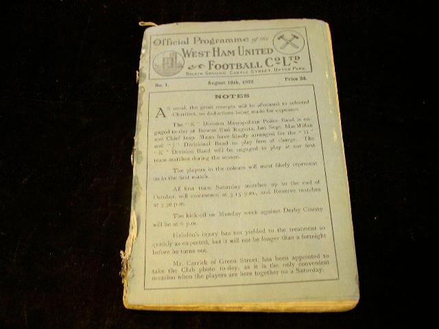 West Ham United 1922/3,