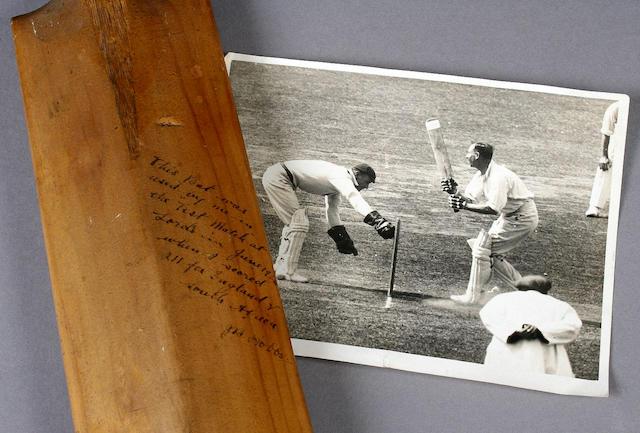 Jack Hobbs' bat.