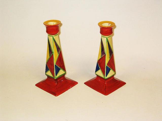 'Original Bizarre' A Pair of Candlesticks