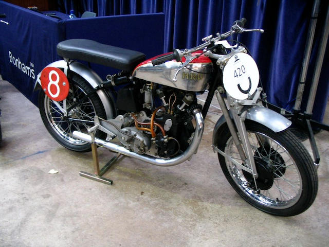 c.1947 Vincent-HRD 498cc Comet Racing Motorcycle  Frame no. 1607 Engine no. TTC17