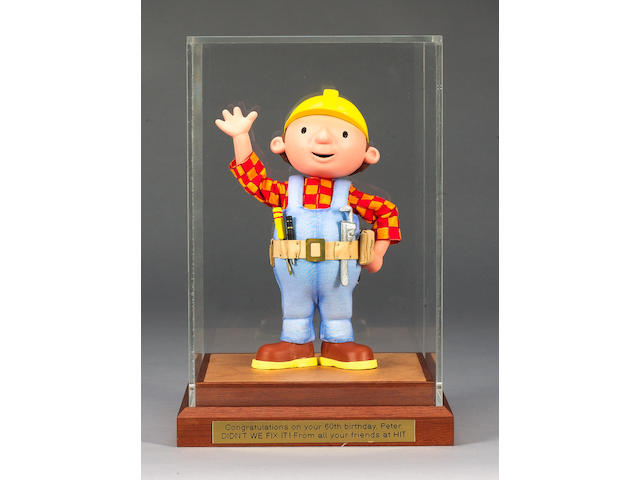 "The original maquette for ""Bob the Builder"", kindly donated by Peter Orton,"