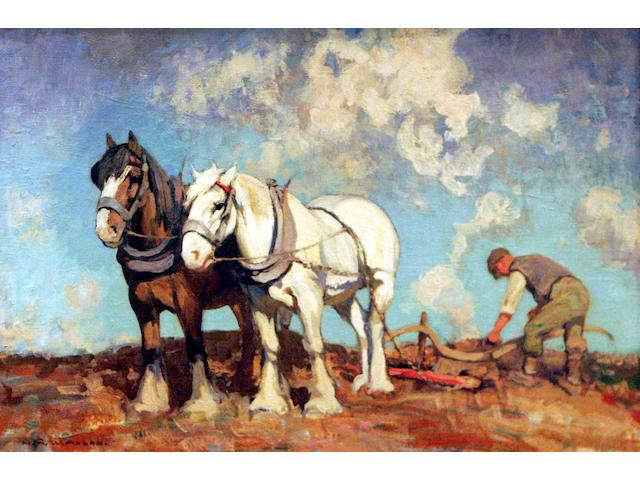 Archibald RW Allan (20thc) Ploughing