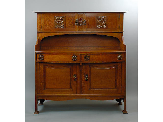 Shapland and Petter of Barnstaple, An Arts and Crafts oak sideboard,