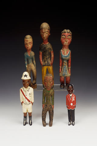 Six Baule Colon figures