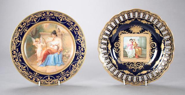 A Vienna style cabinet plate Circa 1890