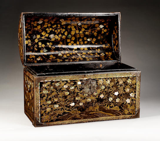 A Rare Momoyama Lacquer Chest of European form,