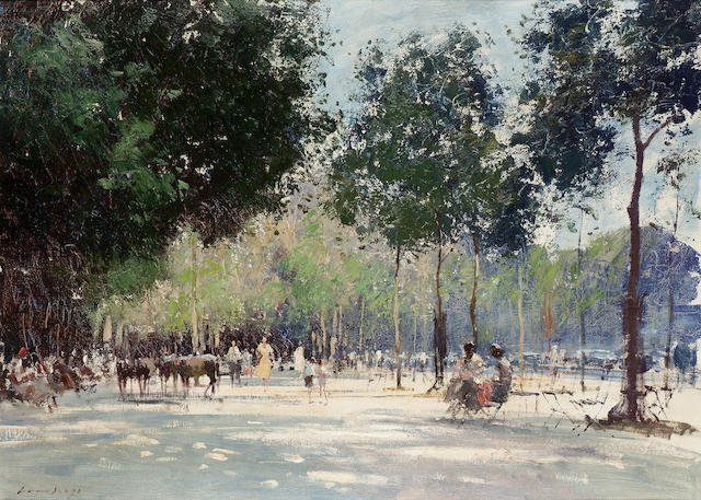 Edward Seago R.W.S. (1910-1974) May Afternoon on the Champs Elysee - Paris 66 x 91.5 cm. (26 x 36 in