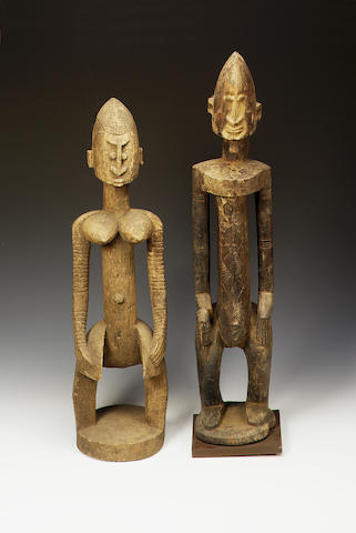 Four large Dogon figures 4