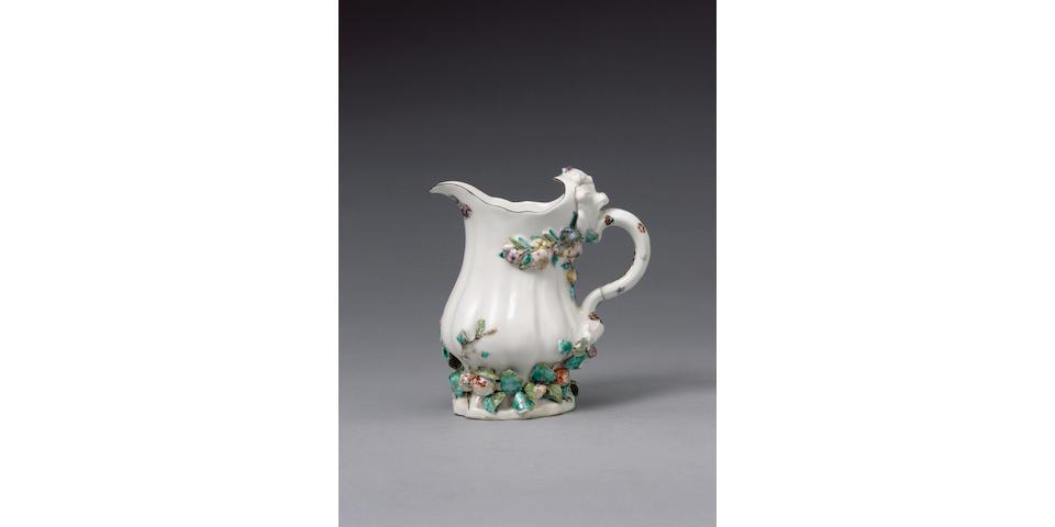 A rare early Chelsea milk jug circa 1745-49