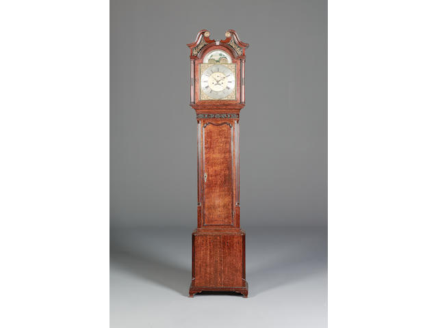 Oak longcase clock by Collier