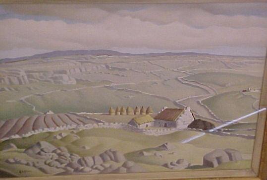 Harry Epworth Allen R.B.A., P.S. (1894-1958) 'Galway Landscape' 37 x 52cm.