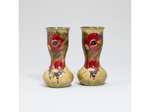 'Pomegranate' A Pair of Vases