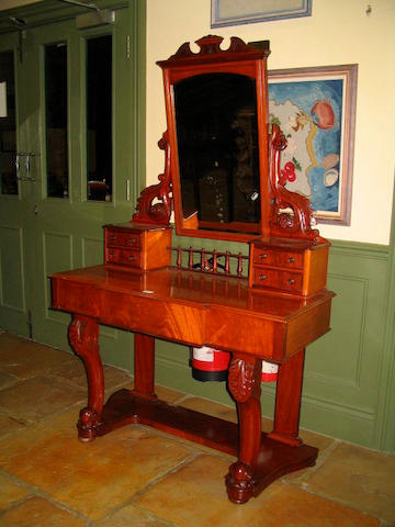 A Victorian Channel Islands mahogany dressing table