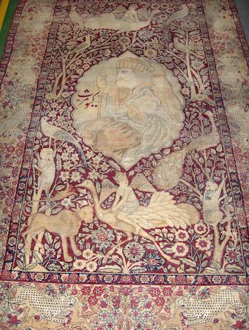 A Kirman rug South East Persia, 224cm x 138cm