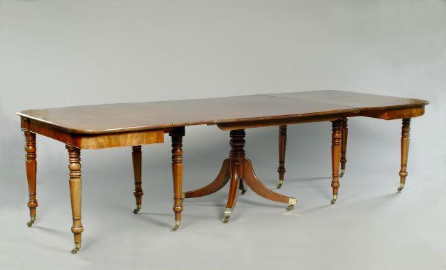 A Regency mahogany rectangular dining table,