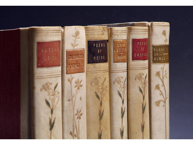 ART NOUVEAU STYLE BINDINGS Six volumes of poetry