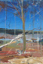 Arthur Boyd (1920-1999) Two landscapes with trees 22.2 x 14.8 cm. (8 3/4 x 5 3/4 in.) each