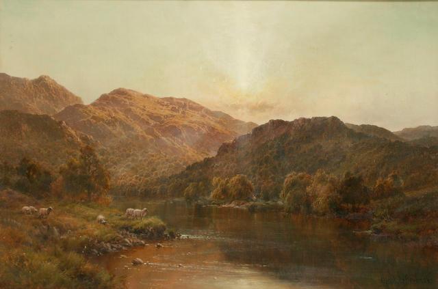 Alfred de Breanski (Senior) (1852 - 1928) 'The Valley of Bettws', 49 x 75cm.