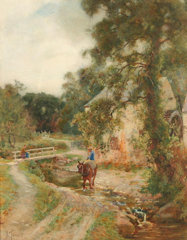 Samuel Towers (1862 - 1943) 'The Lower Mill, Glen Conway', 41 x 32cm.