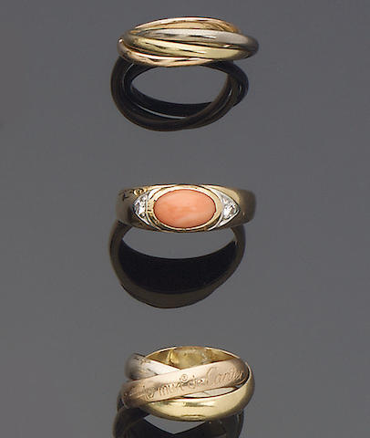 A small quantity of rings,, by Cartier and Van Cleef and Arpels