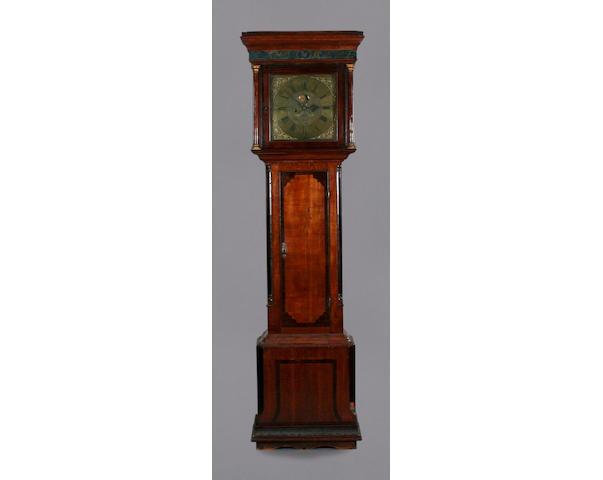 An oak and mahogany crossbanded longcase clock, David Collier, Gatley, circa 1755,