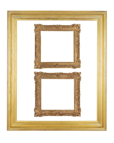 An English late 19th Century gilded moulding frame