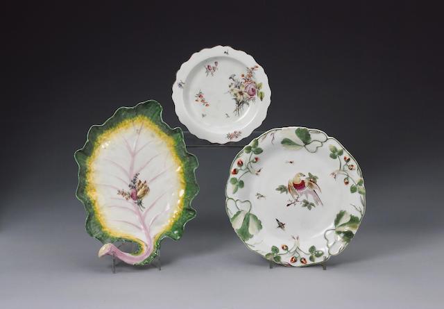 Chelsea leaf dish, green edge