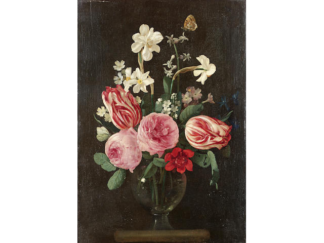 Jan Phillips van Thielen (Malines 1618-1667 Boisschot)  Roses, narcissi, tulips and other flowers 42