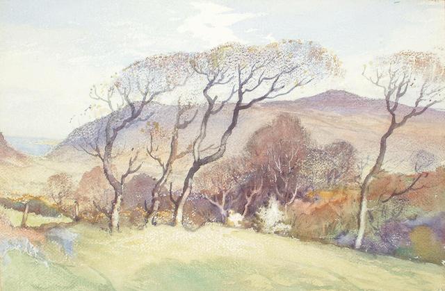 William Hoggatt (1880-1961) 'Harps of the Wind - Glendown', 38 x 56cm.