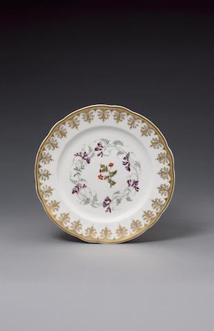 A very rare Nantgarw plate circa 1818-20