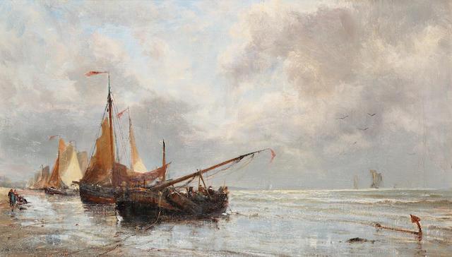 Edwin Hayes (1819-1904) 'Dutch pinks' 30 x 51cm (12 x 20in)