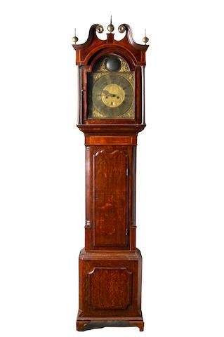 A late George III oak longcase clock,