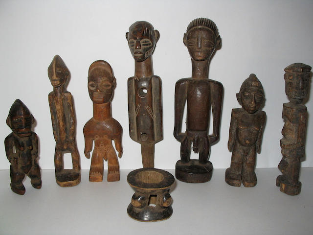Seven small West African figures 8