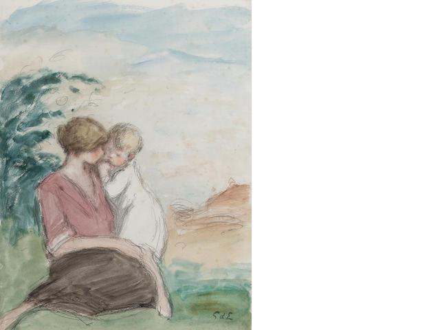 Georges d' Espagnat (1870 - 1950) 32.3 x 24.9 cm. (12 3/4 x 9 3/4 in.) framed
