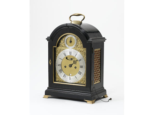 An early 19th century ebonised and brass mounted bracket clock  James Wilson, Westminster