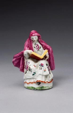 A rare Chaffers figure of a Nun circa 1756-58