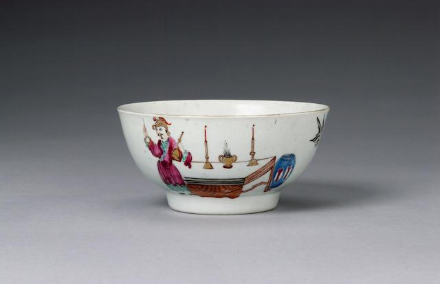 A delightful Chaffers small bowl circa 1760-64