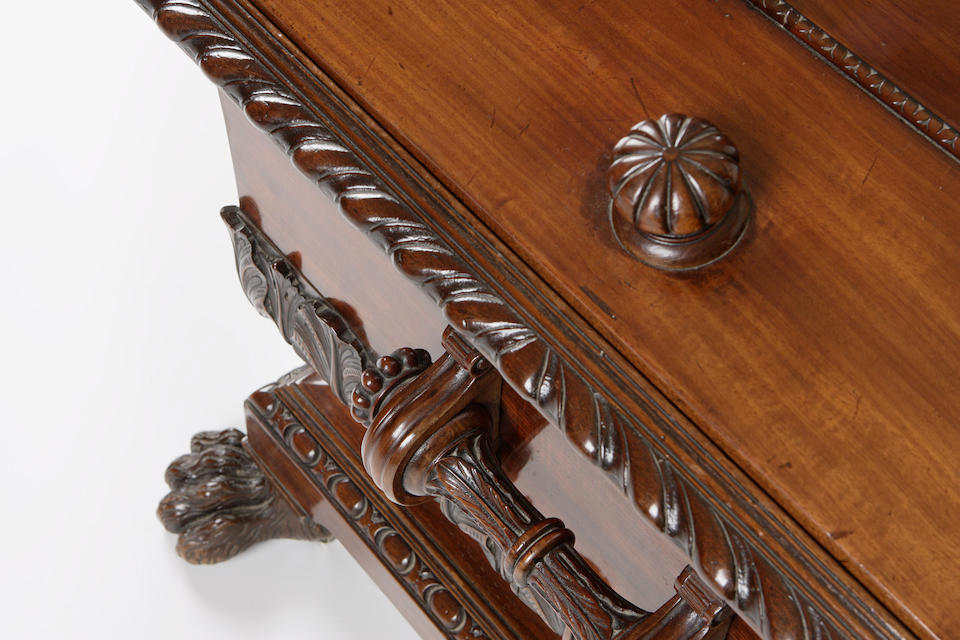 A George IV Scottish mahogany cellaret,
