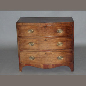 A Regency mahogany bowfront chest of drawers,
