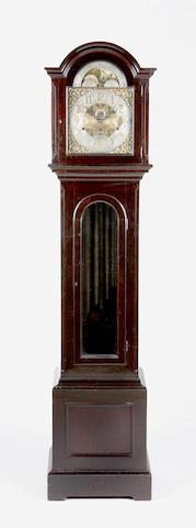 A late 19th Century ebonised chiming longcase clock Thomas McNeil, Greenock,