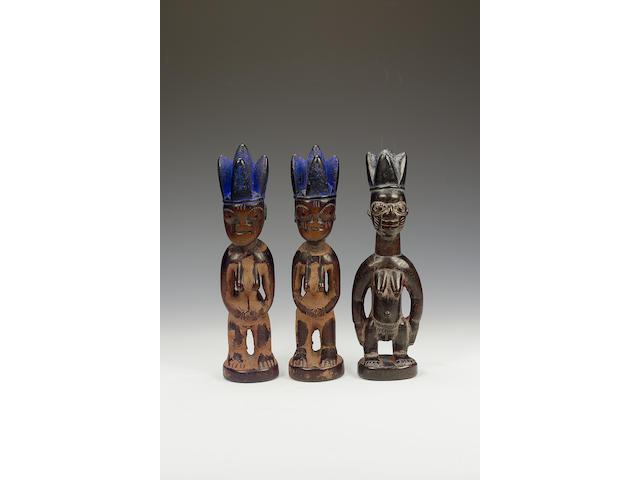 Three Yoruba Ibeji figures 3