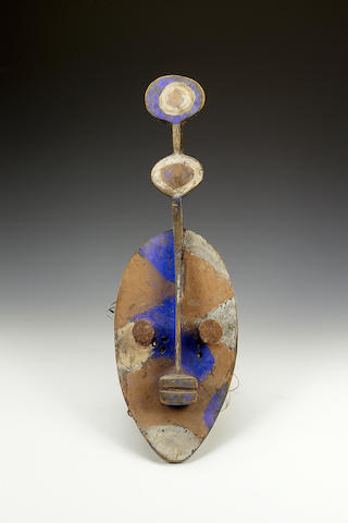 A Mossi Mask and a Baule seated figure 2