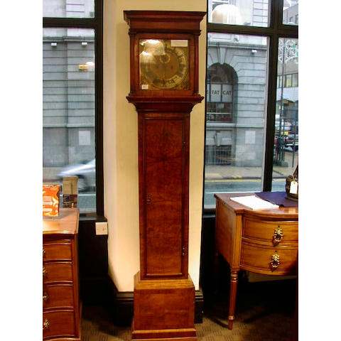 An 18th Century walnut longcase clock,