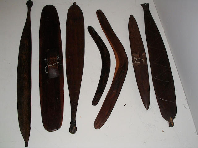 Seven Australian Aborigine weapons, 7