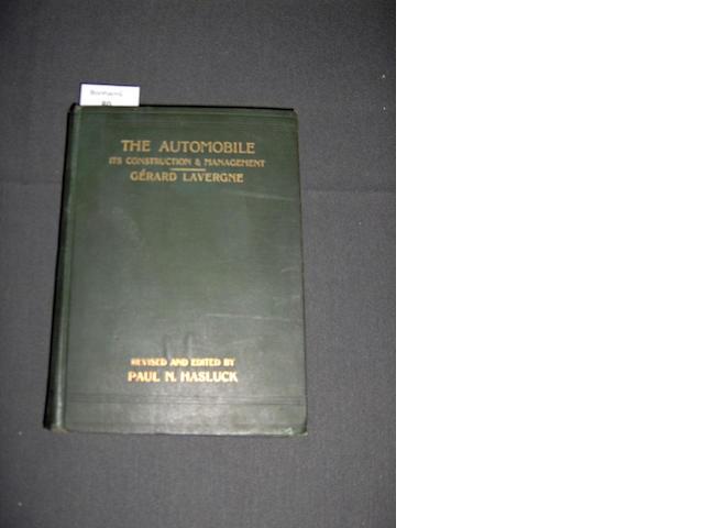 Paul N Hasluck: The Automobile - Its Construction & Management; 1902,