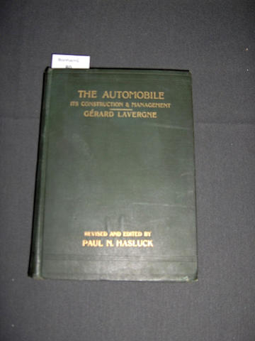 Paul N Hasluck: The Automobile - Its Construction & Management; 1902,