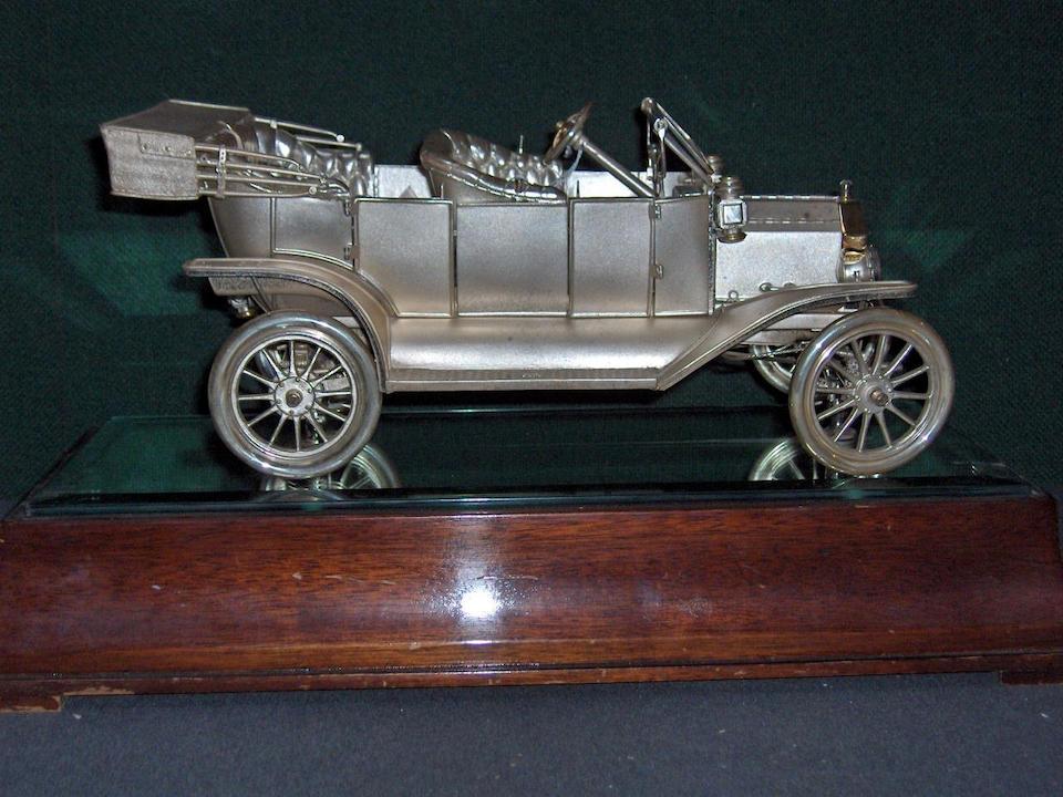 A fine Sterling silver Model 'T' Ford by Garrard, 1979,